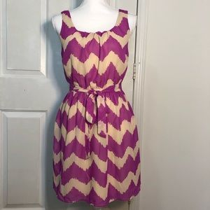 Lily Rose Chevron Belted Dress